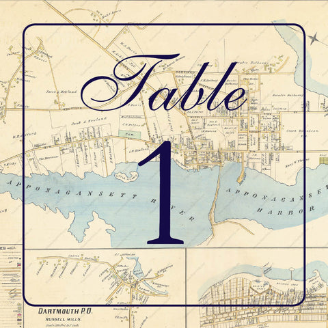 Map Wedding Table Numbers