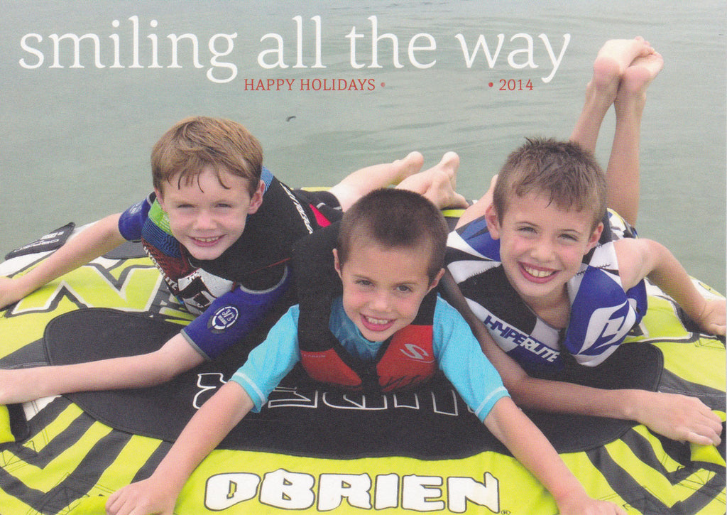 579 Smiling All the Way Photo Holiday Card