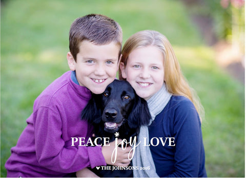 899 Peace Joy Love Photo Holiday Card