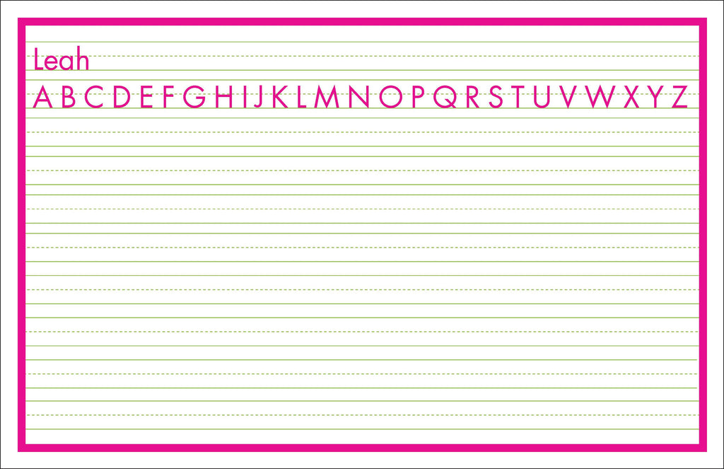 Elementary Writing Lines Personalized Kids Placemats