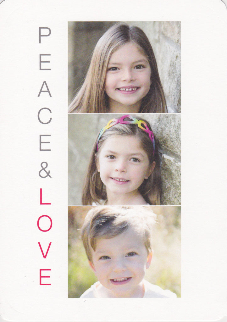 920 Peace Love Photo Holiday Card