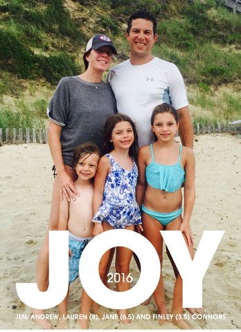898 JOY Holiday Card