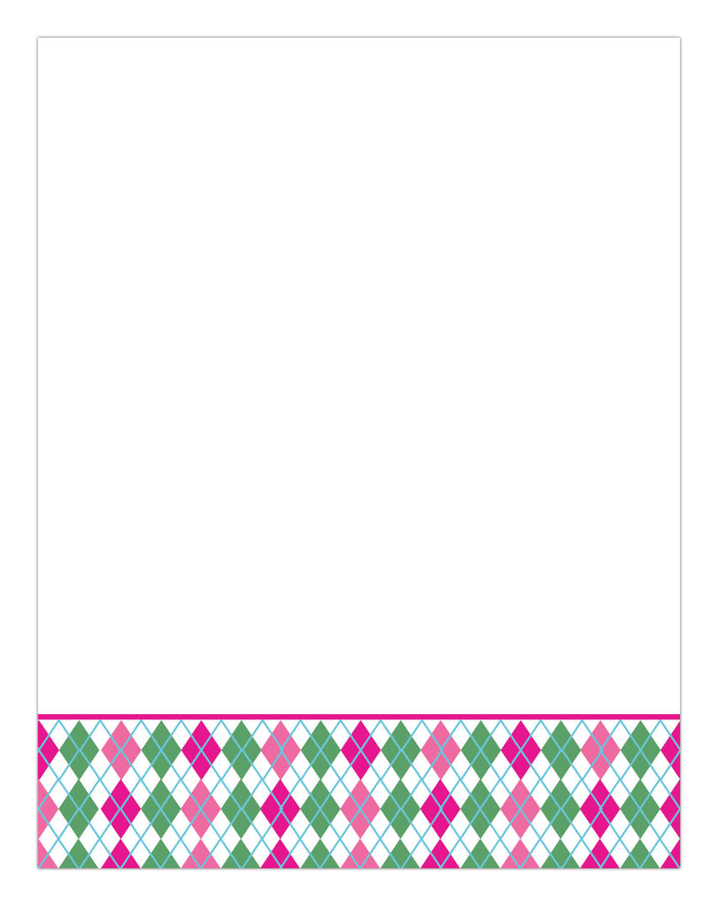 Argyle Stationery/Notepad