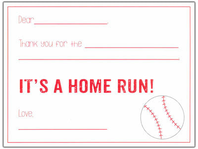 Baseball Kids Fill-in-the-blank Stationery