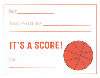Basketball Kids Fill-in-the-blank Stationery