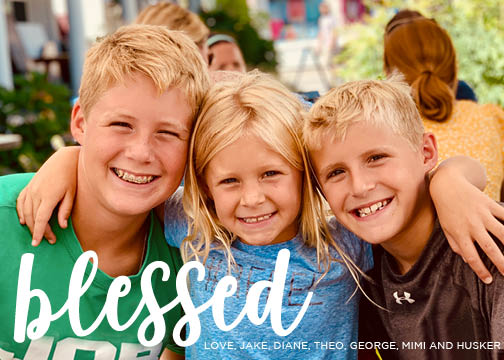 395 Blessed Photo Holiday Card