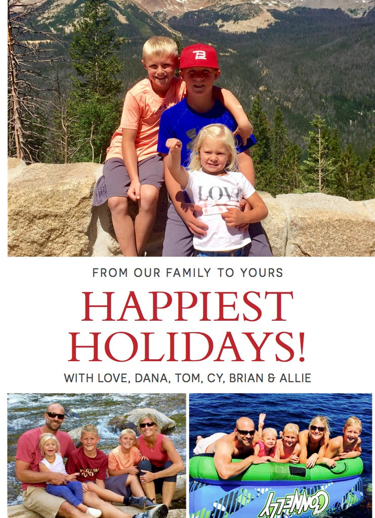 897 Happiest Holidays! Holiday Card