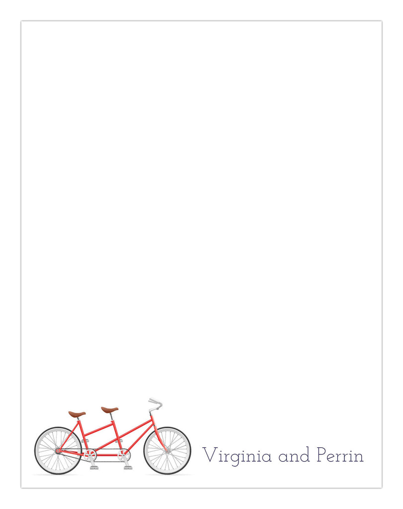 Bicycle for Two Stationery/Notepad