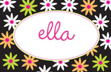 Daisy Flower Personalized Kids Placemats