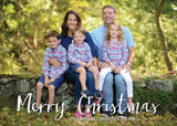 443 Merry Christmas White Photo Holiday Card