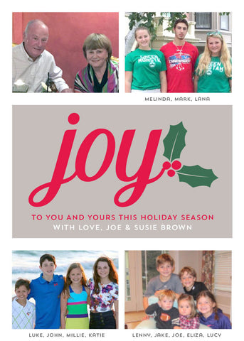 901 Joy Photo Holiday Card