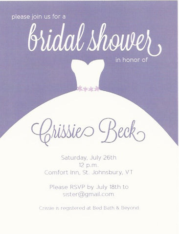 Dress Bridal Shower Invitation