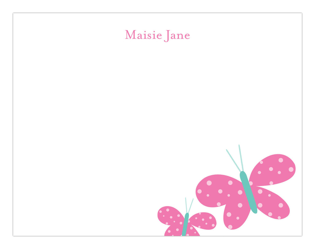 Butterfly Friends Stationery