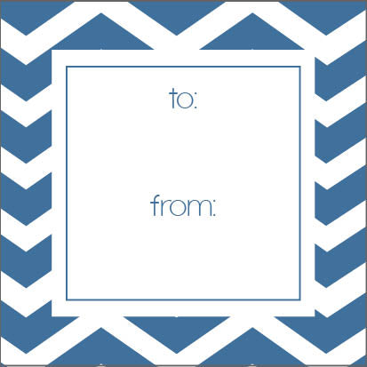 Chevron Gift Sticker