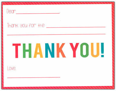 Red Candy Stripe Kids Fill-in-the-blank Stationery