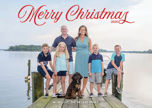 389 Merry Christmas Photo Holiday Card