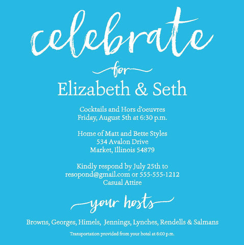 Celebrate Cocktail Party Invitation