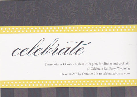 Celebrate Script Cocktail Party Invitation