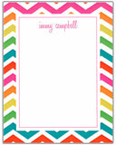 Chevron Multi Color Border Stationery/Notepad