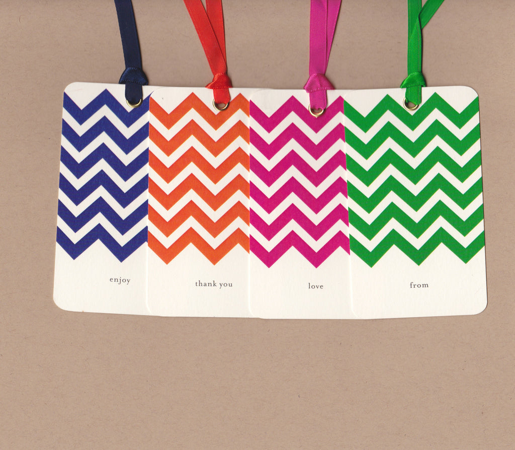 Chevron Say Anything Gift/Wine Tags