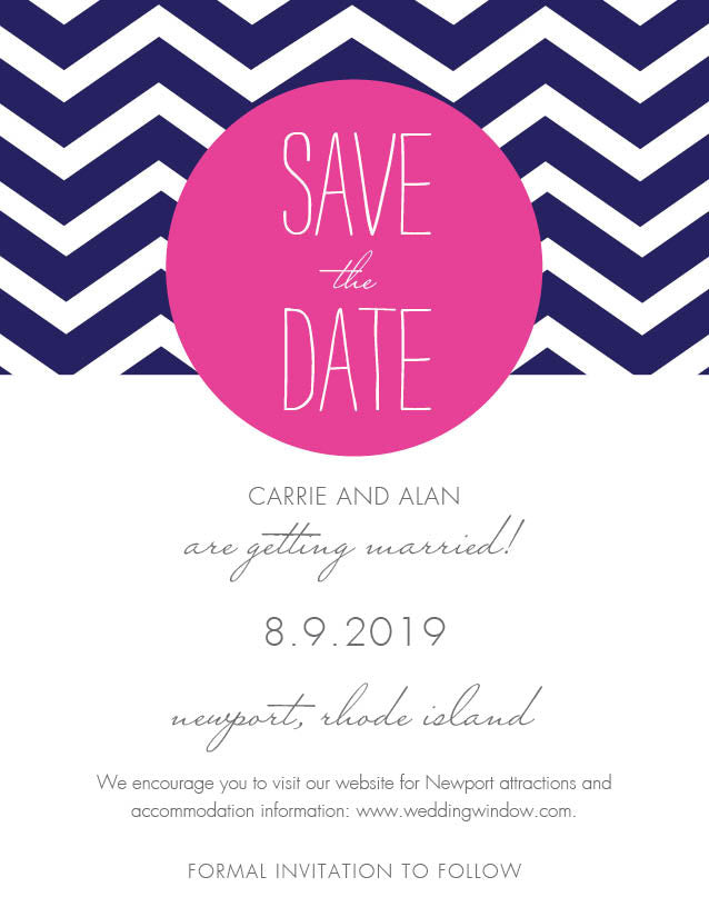 Chevron Circle Save The Date