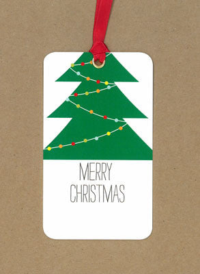 Merry Christmas Tree Say Anything Holiday Gift/Wine Tags