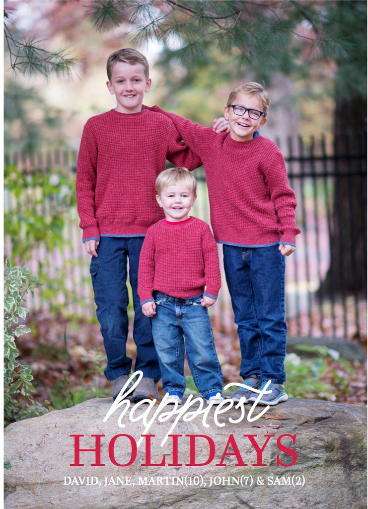 894 Happiest Holidays Holiday Card