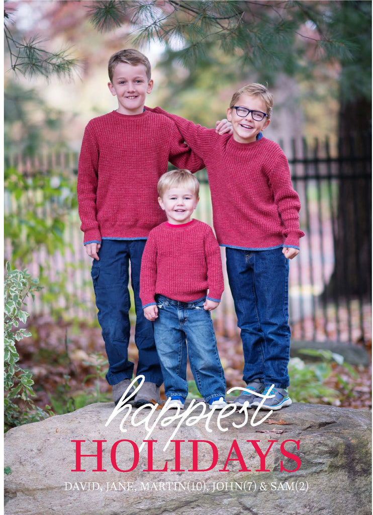 453 Happiest Holidays Photo Holiday Card