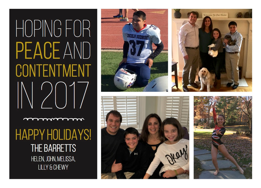 893 Peace and Contentment Holiday Card