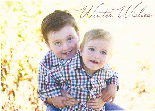 591 Winter Wishes Script Photo Holiday Card