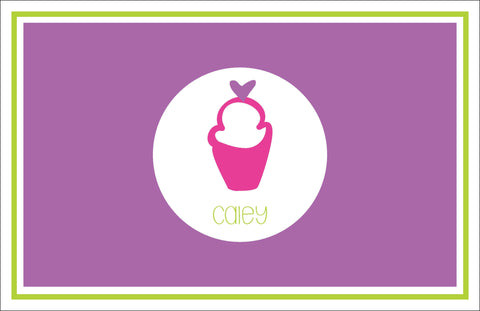 Cupcake Personalized Kids Placemats