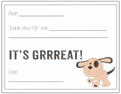 Doggy Kids Fill-in-the-blank Stationery