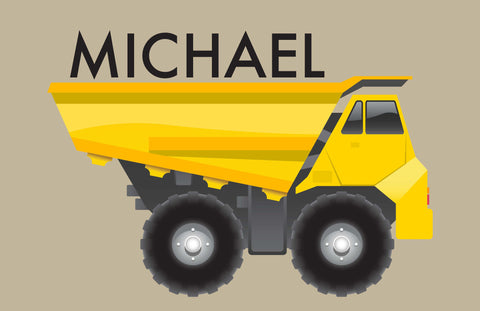 Dumptruck Personalized Kids Placemats