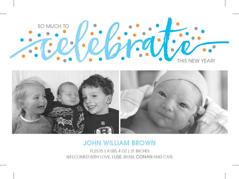Celebrate Birth Announcement