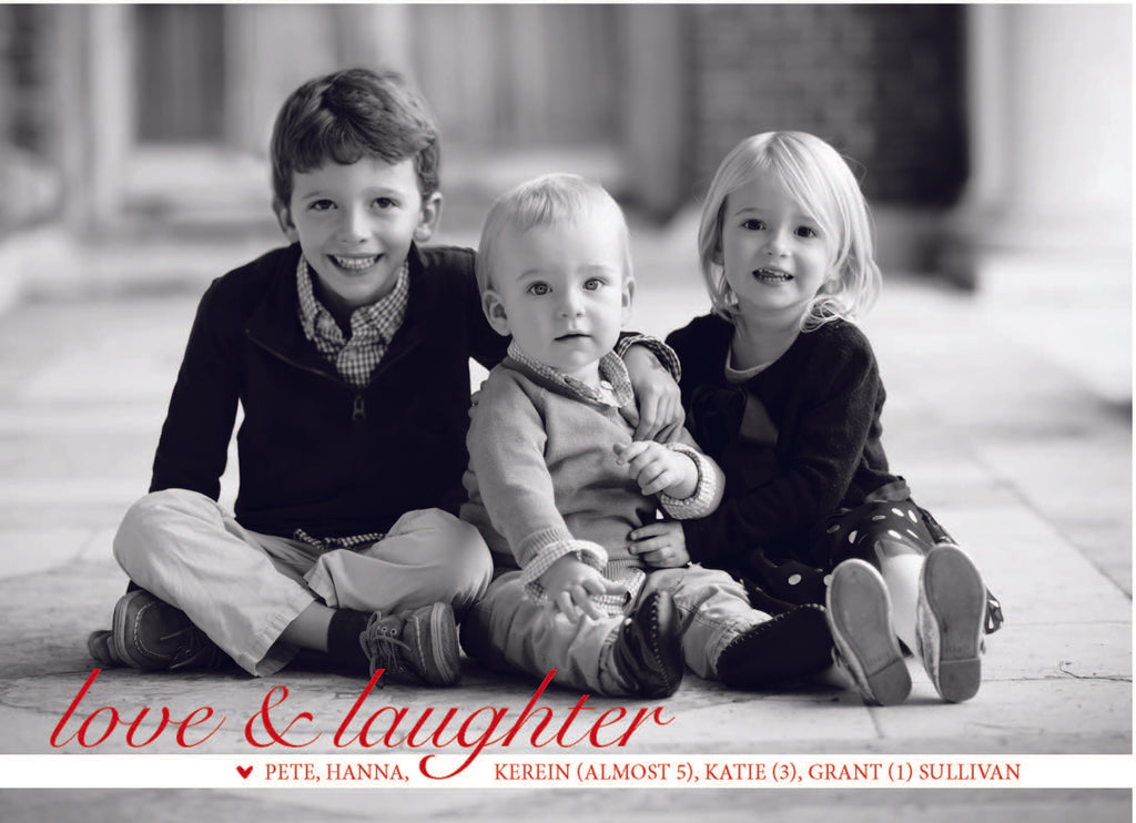 518 Love and Laughter Photo Holiday Card