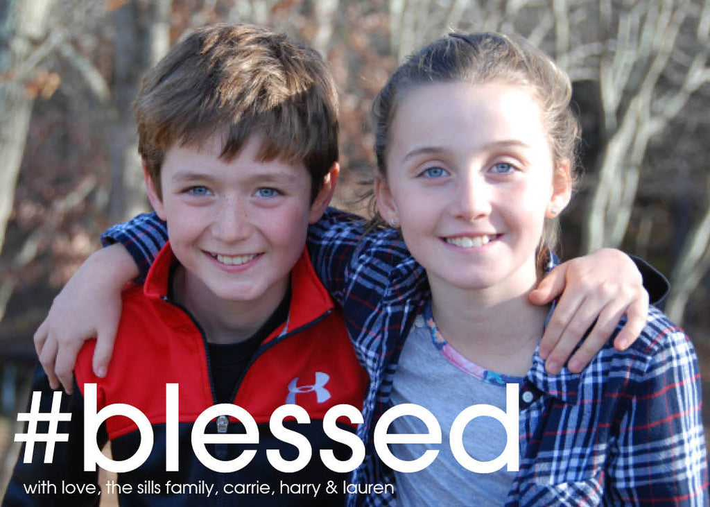944 #Blessed Photo Holiday Card