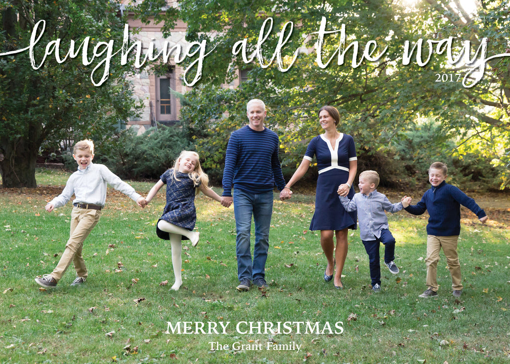 446 Laughing All the Way Photo Holiday Card