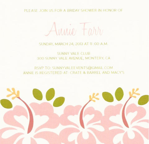 Spring bloom Adult Birthday Invitation