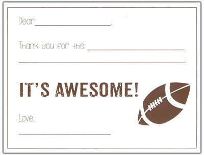 Football Fill-in-the-blank Stationery
