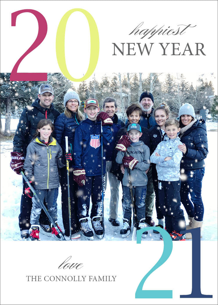 450 Happiest New Year Photo Holiday Card