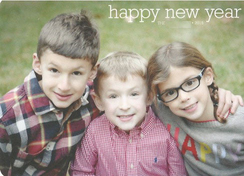 485 Happy New Year Typewriter Photo Holiday Card