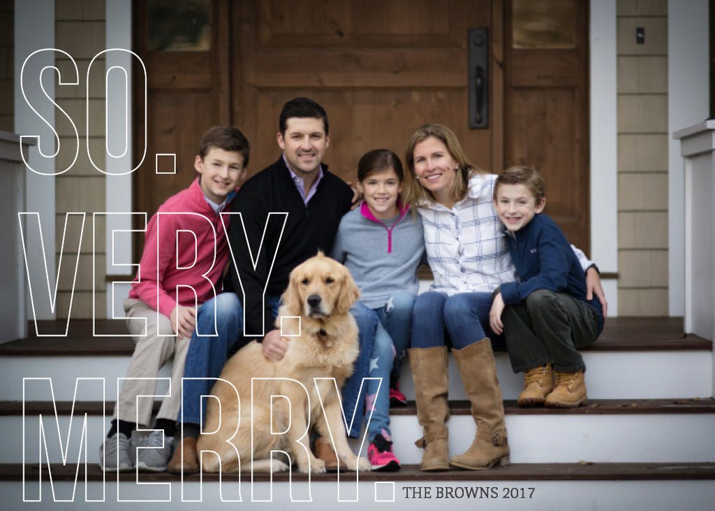 439 So Very Merry Photo Holiday Card