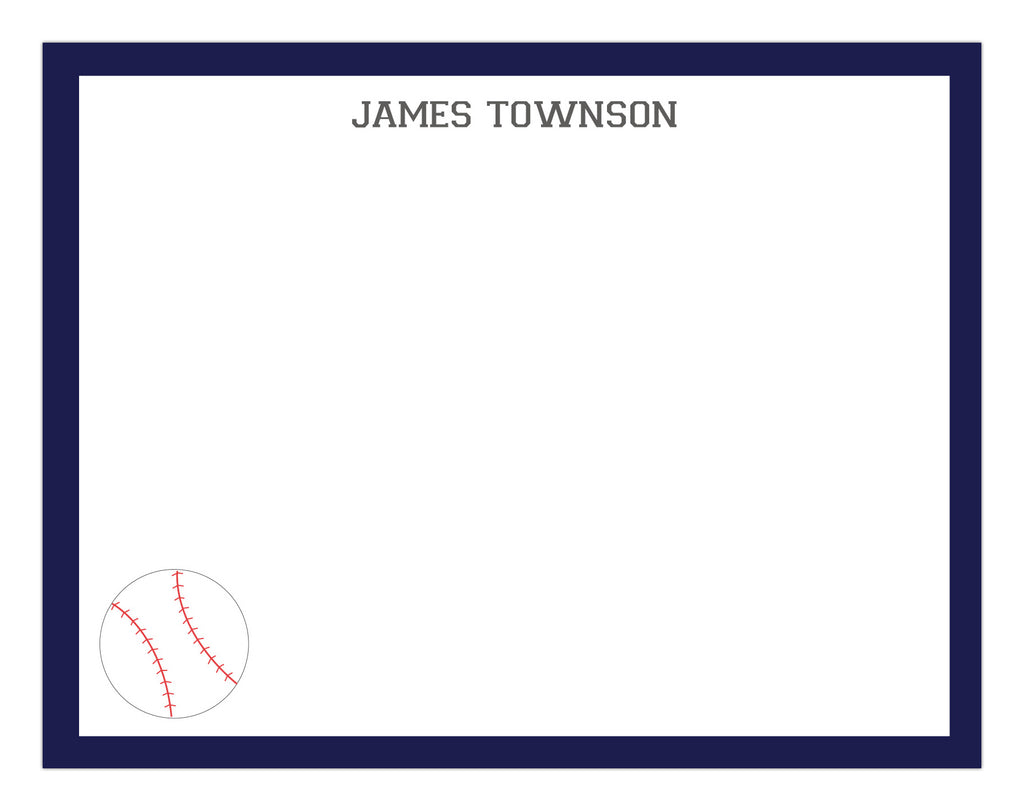 Baseball Border Stationery