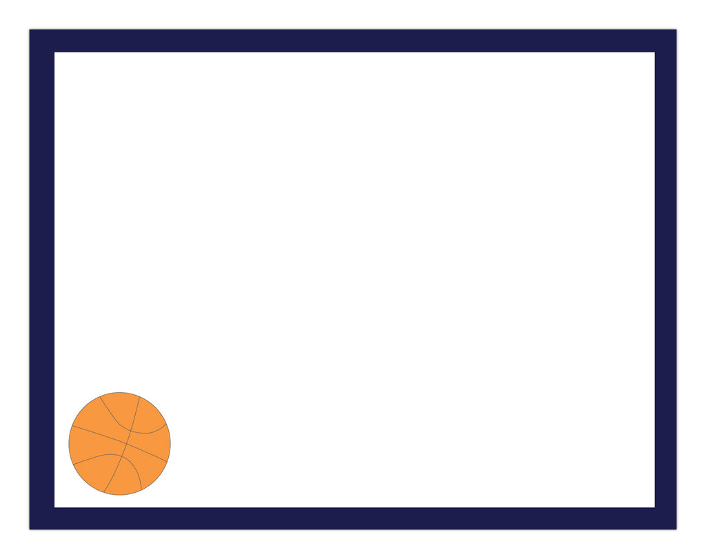 Basketball Border Notepad