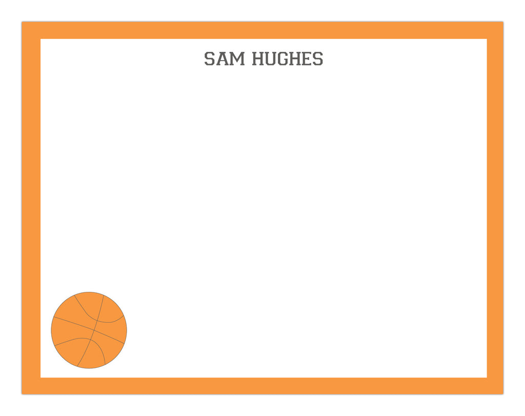 Basketball Border Stationery