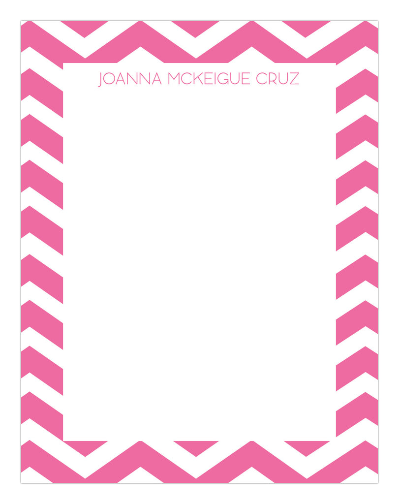 Chevron Border Stationery