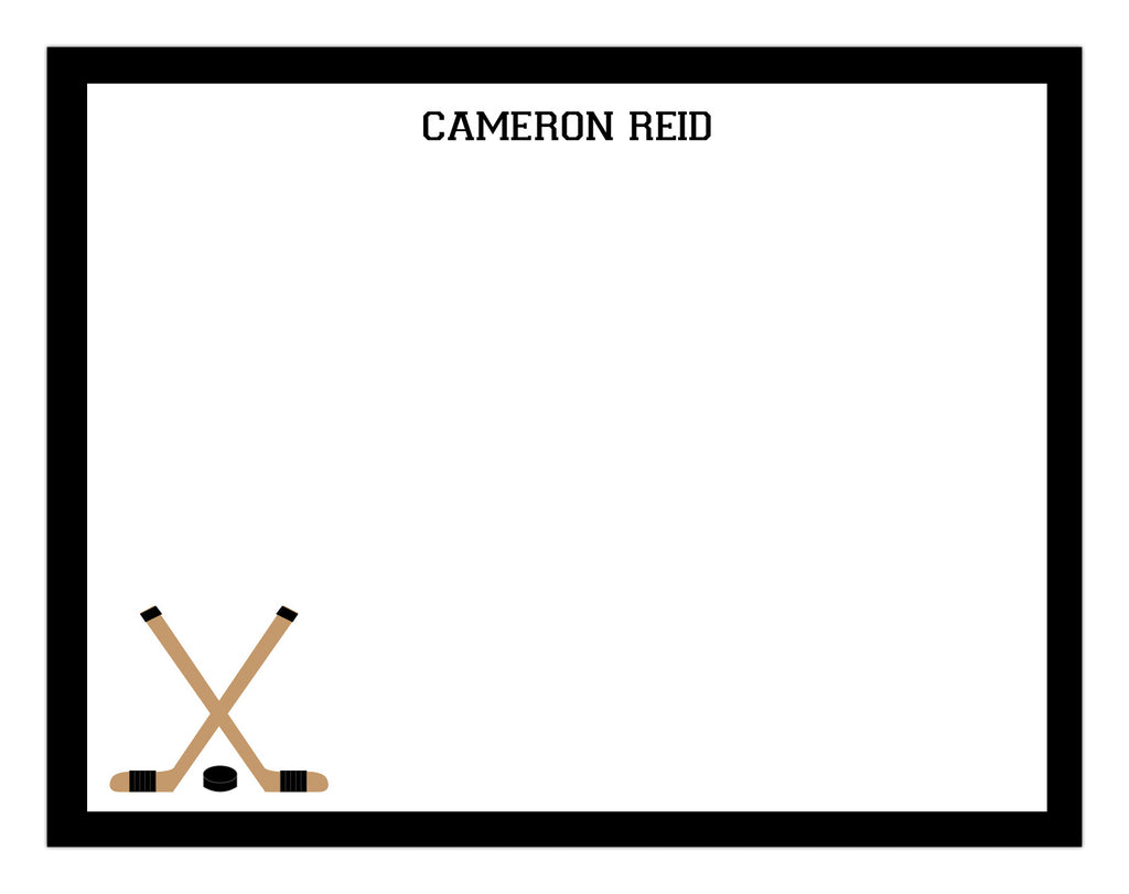 Hockey Full Border Notepad