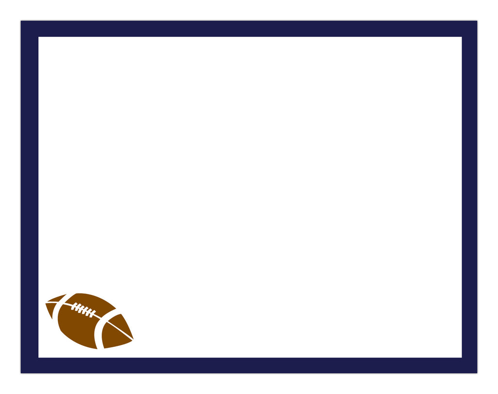Football Border Notepad