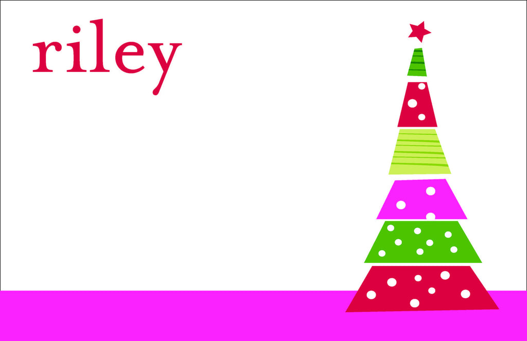 Funky Christmas Tree Personalized Kids Placemats