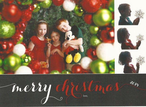 593 Merry Christmas Multi Photo Holiday Card